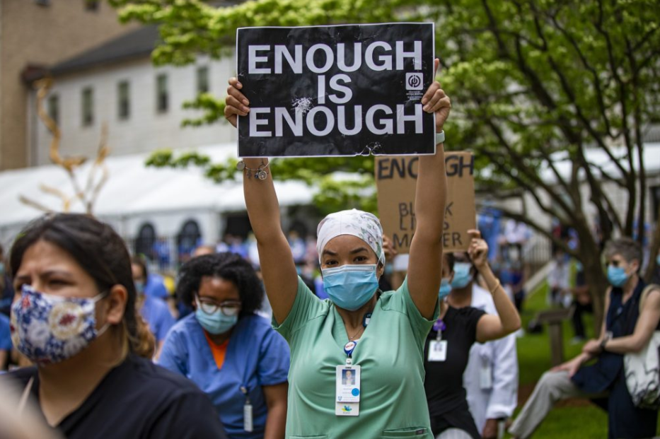 Medical Workers Anti-racism protest.