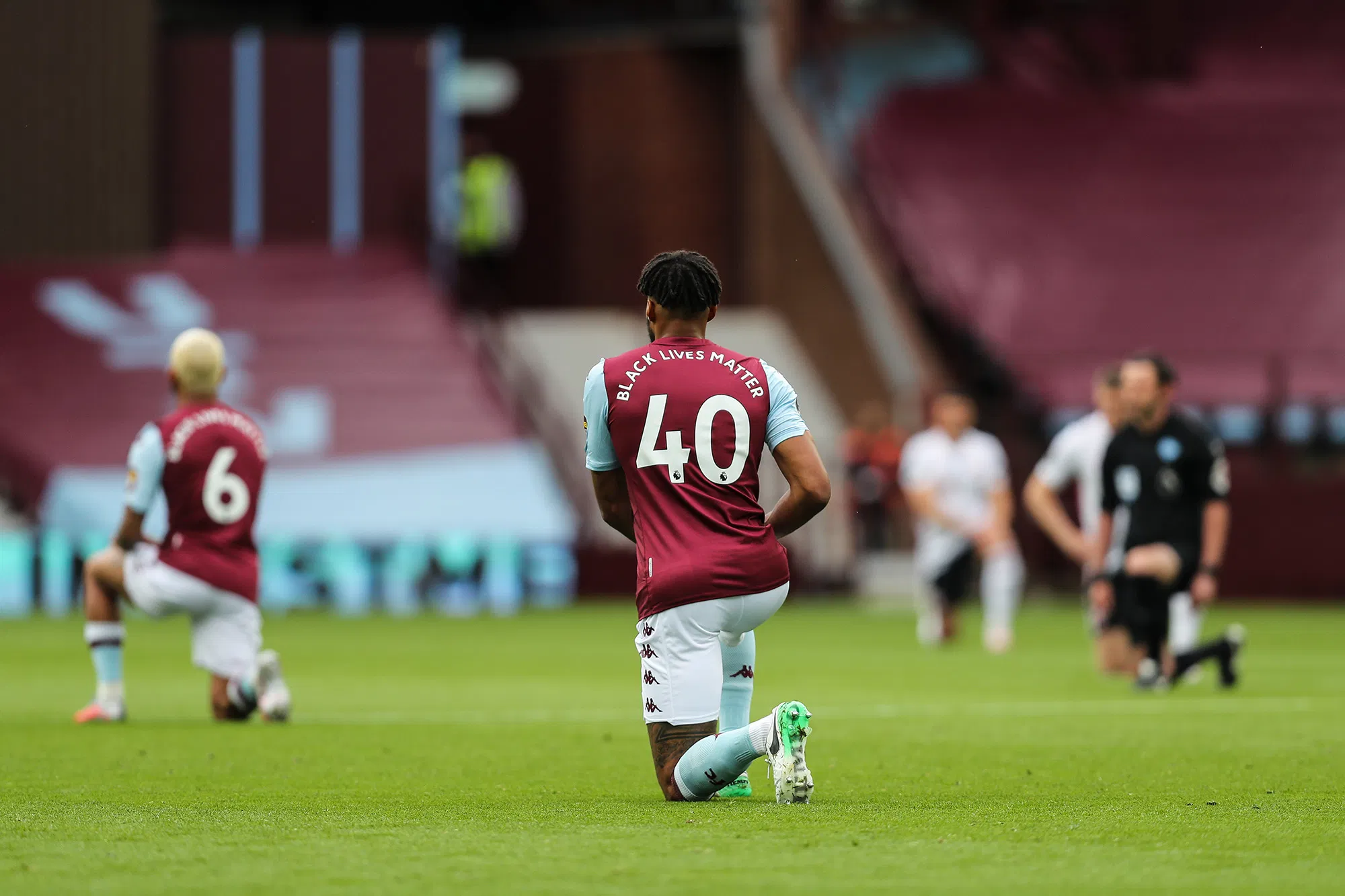 Aston Villa Players Take a Knee in Support of Black Lives Matter Campaign