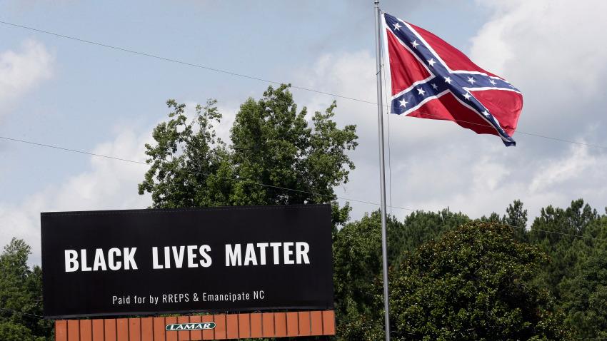 Black Lives Matter Campaign, Confederate Flag