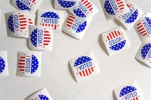 """""""I Voted"""" emblems."""
