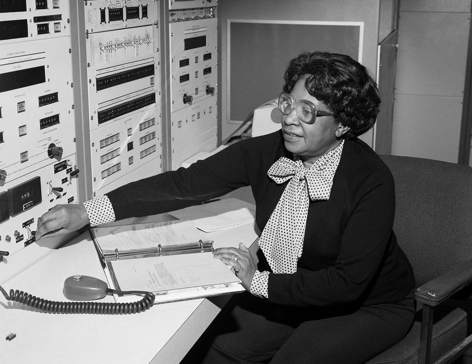 Depiction of Mary Jackson, Aeronautical Engineer