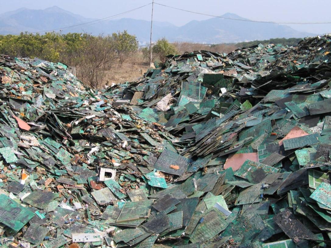 E-waste consolidation.