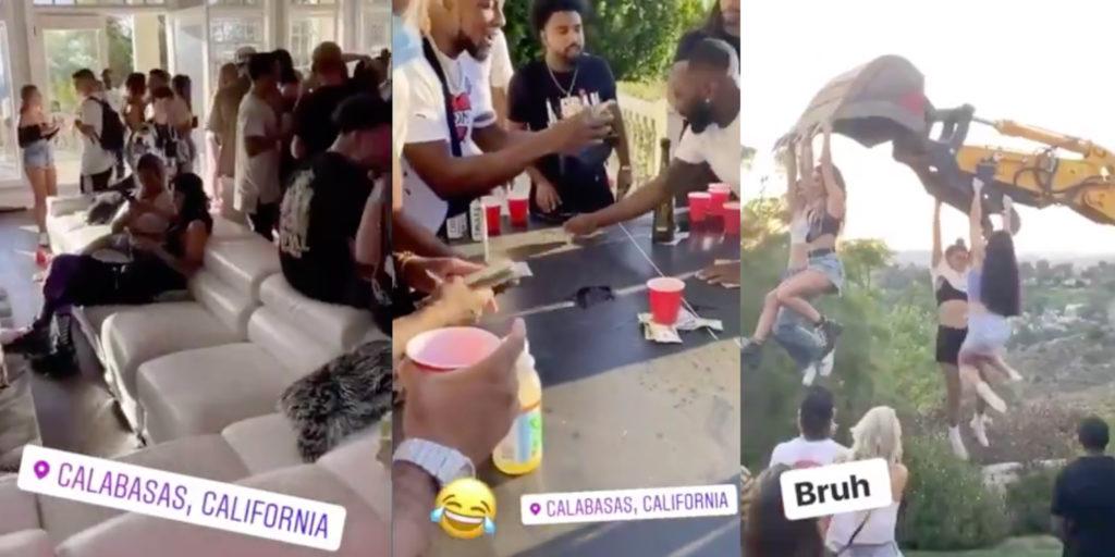 Social Media of People hosting parties.