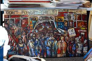 Photo depicting a Selma-to-Montgomery March memorial.